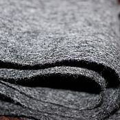Аксессуары ручной работы. Ярмарка Мастеров - ручная работа Шарф мужской валяный теплый шерстяной под пальто серый стальной монохр. Handmade.