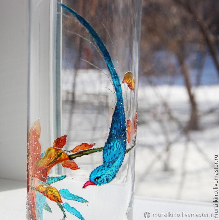 Ваза Голубая птица