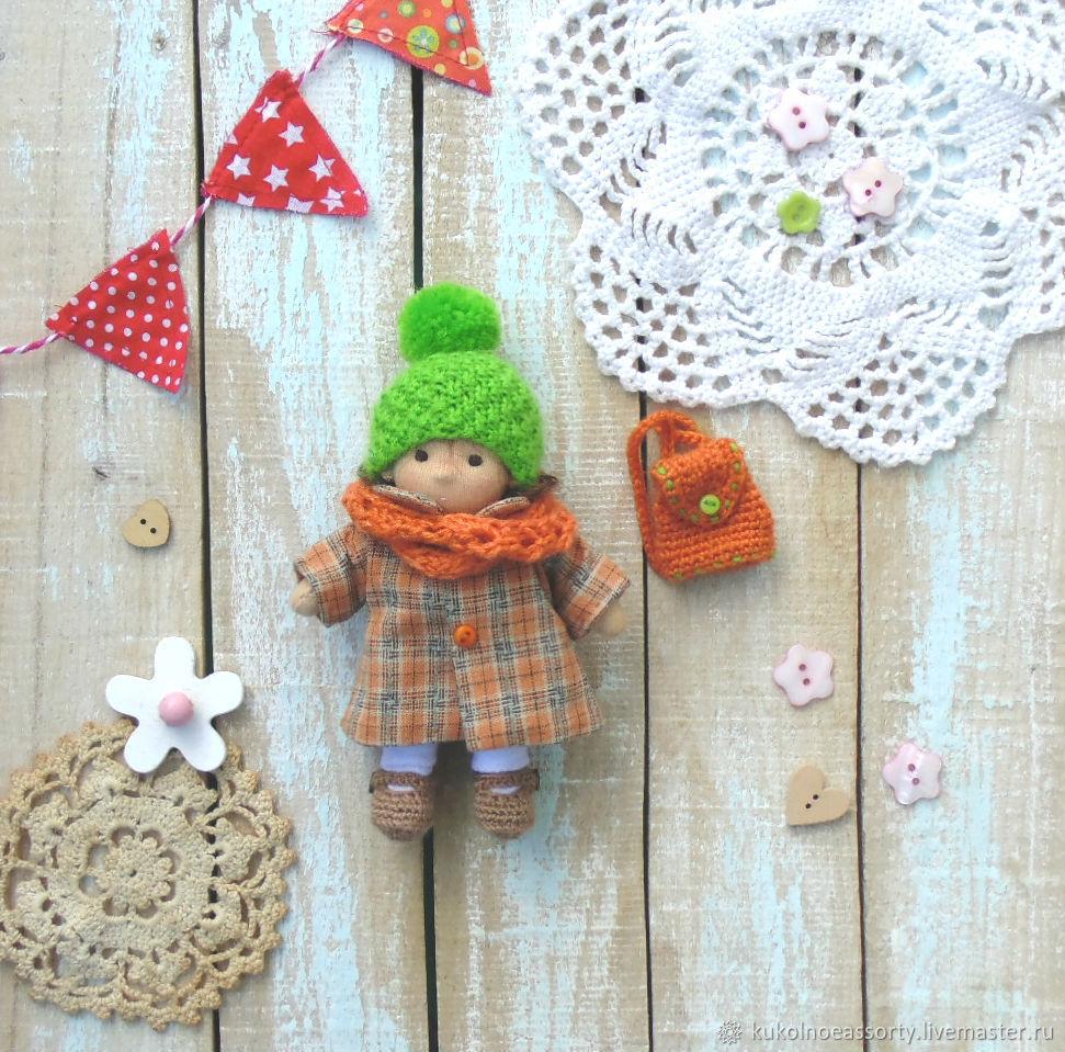 Вальдорфские куклы: Куколка для первоклашки 12 см, Вальдорфские куклы и звери, Североуральск,  Фото №1