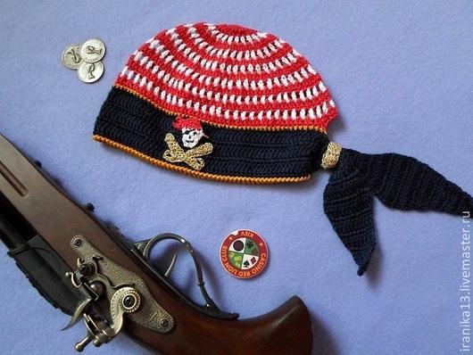 """Шапки и шарфы ручной работы. Ярмарка Мастеров - ручная работа. Купить Бандана """"Маленький пират"""". Handmade. Разноцветный, вязание на заказ"""