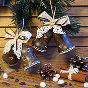 """Подарки к праздникам ручной работы. Ярмарка Мастеров - ручная работа Колокольчики """"Шоколадное Рождество.."""". Handmade."""