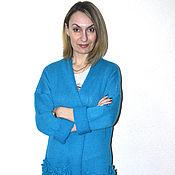 Одежда ручной работы. Ярмарка Мастеров - ручная работа Кардиган-пальто с цветами на карманах. Handmade.