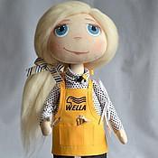 """Куклы и игрушки ручной работы. Ярмарка Мастеров - ручная работа Текстильная кукла """"Парикмахер 2"""". Handmade."""
