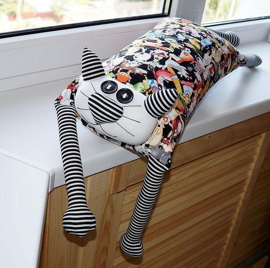 """Детская ручной работы. Ярмарка Мастеров - ручная работа. Купить Игрушка-подушка """"Радужный кот"""" собачья жизнь. Handmade. котик"""