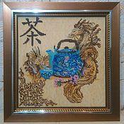 Картины и панно ручной работы. Ярмарка Мастеров - ручная работа Китайское чаепитие. Handmade.