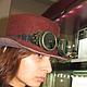 Готика ручной работы. Ярмарка Мастеров - ручная работа. Купить Шляпа Стимпанк. Handmade. Коричневый, шляпа с полями, стимпанк стиль