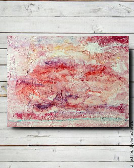 Абстракция ручной работы. Ярмарка Мастеров - ручная работа. Купить Абстрактная живопись. Romance.. Handmade. Розовый, абстрактная картина, акрил