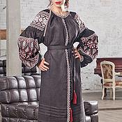 Одежда handmade. Livemaster - original item embroidered dress. Linen boho dress. Embroidery. Handmade.