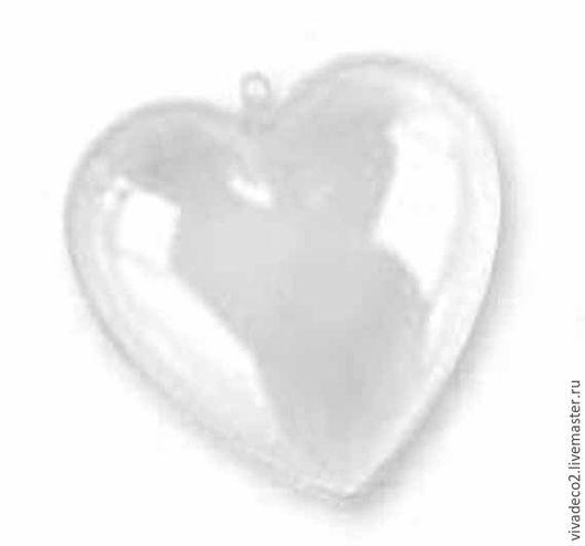 Заготовки для декупажа, пластиковые сердечки арт 2240310        10 см     4/0