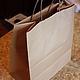 Упаковка ручной работы. Ярмарка Мастеров - ручная работа. Купить Крафт пакет с кручеными ручками, 3 размера. Handmade. Коричневый