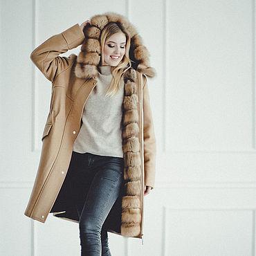 Одежда ручной работы. Ярмарка Мастеров - ручная работа Парка на меху с куницей, полностью меховая зимняя парка. Handmade.