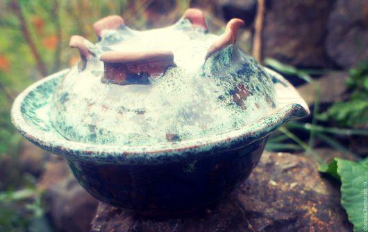 Чайники, кофейники ручной работы. Ярмарка Мастеров - ручная работа. Купить Azure Dragon. Handmade. Изумрудный, чайник, заварник, глина