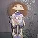 Кукла текстильная интерьерная, Лапочка. Украшение интерьера, оригинальный подарок!