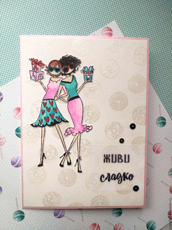 Идея сладкой открытки для подруги