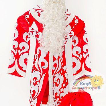 Одежда ручной работы. Ярмарка Мастеров - ручная работа Костюм Дед Мороз Царский со стразами. Handmade.