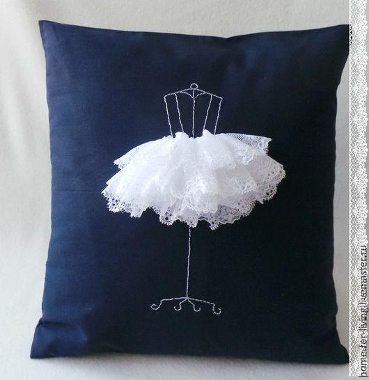 """Текстиль, ковры ручной работы. Ярмарка Мастеров - ручная работа. Купить Подушки """" Модное ателье"""" синий. Handmade."""