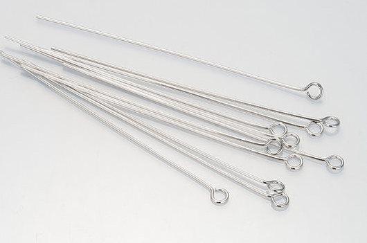 Для украшений ручной работы. Ярмарка Мастеров - ручная работа. Купить Пины с колечком 5см (10шт.) Silver Plated (Южная Корея). Handmade.