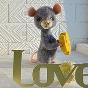Куклы и игрушки ручной работы. Ярмарка Мастеров - ручная работа Влюблённый мышь. Handmade.