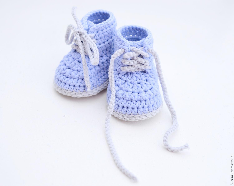 Вяжем пинетки спицами для новорожденных. Схемы с описанием