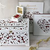 Свадебный салон handmade. Livemaster - original item Wedding Treasury, jewelry box, book of wishes the certificate. Handmade.