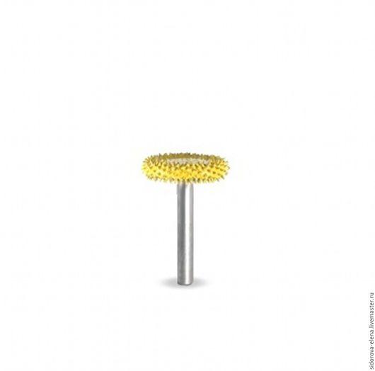 Другие виды рукоделия ручной работы. Ярмарка Мастеров - ручная работа. Купить Сабурр диск большой желтый. Handmade. Желтый