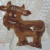 Подарки к праздникам ручной работы. Ярмарка Мастеров - ручная работа Пряничная коровка. Handmade.