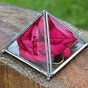 Свадебный салон handmade. Livemaster - original item Box. Box Pyramid. Box of glass. Box facets. Handmade.
