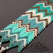 Украшения handmade. Livemaster - original item Zigzag pattern bracelet. Handmade.