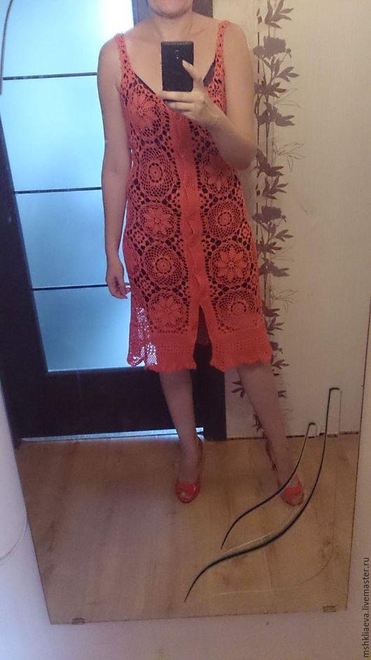 Пляжные платья ручной работы. Ярмарка Мастеров - ручная работа. Купить Сарафан-халат по мотивам сарафана  Ophelia Moon.. Handmade.