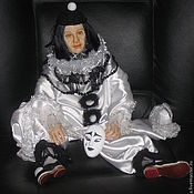 Куклы и игрушки ручной работы. Ярмарка Мастеров - ручная работа Пьеро. Портретная кукла.. Handmade.