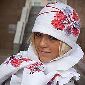 Аксессуары handmade. Livemaster - original item Hat felted feminine VLASTILINA. Handmade.