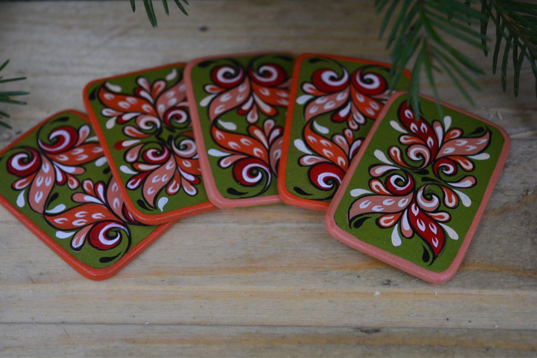 Расписные магнитики из дерева, Магниты, Череповец,  Фото №1
