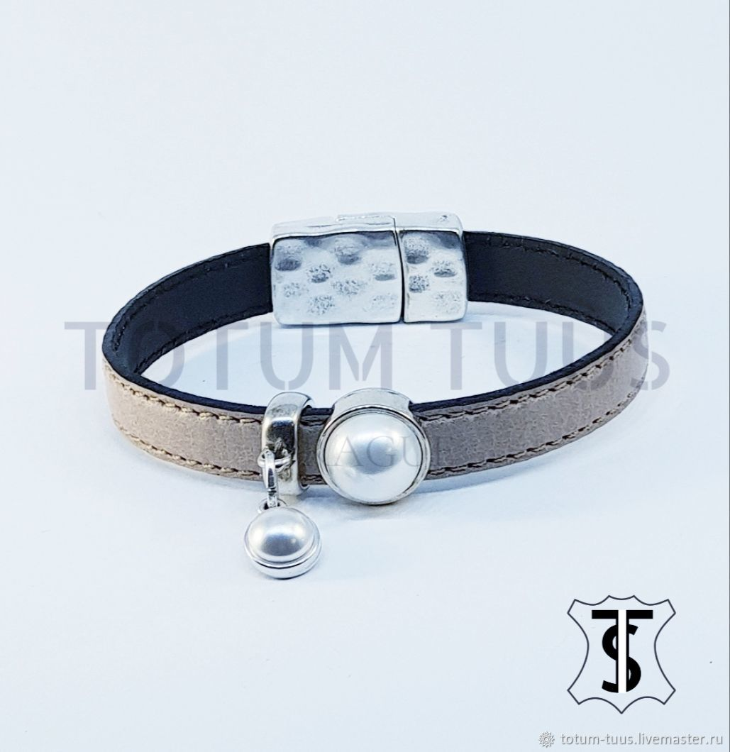 Leather bracelet Art:18000049, Bead bracelet, Prague,  Фото №1