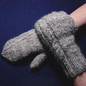 Аксессуары handmade. Livemaster - original item Men`s mittens `Silver Frost`. Handmade.