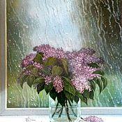 Картины и панно handmade. Livemaster - original item Rain. A bouquet of lilacs. ( Vladimir Tarasov). Handmade.
