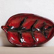 Посуда ручной работы. Ярмарка Мастеров - ручная работа Керамический лист. Handmade.