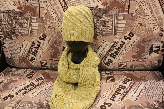 Комплекты аксессуаров ручной работы. Ярмарка Мастеров - ручная работа. Купить Утепляемся:). Handmade. Комбинированный, шапка вязаная, пряжа, подарок