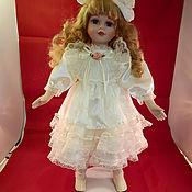 Куклы винтажные ручной работы. Ярмарка Мастеров - ручная работа Фарфоровая кукла коллекции Альберон в белом, ручная работа. Handmade.