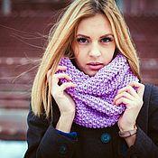 Аксессуары handmade. Livemaster - original item Lilac scarf-Snood. Handmade.