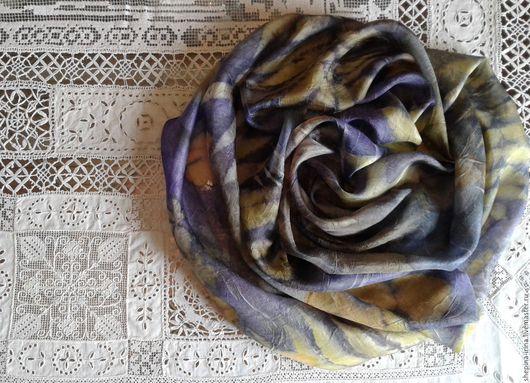 """Шарфы и шарфики ручной работы. Ярмарка Мастеров - ручная работа. Купить Шелковый шарф """"Янина"""". Handmade. Бледно-сиреневый"""