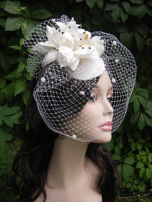 Clothing & Accessories handmade. Livemaster - handmade. Buy the veil with a flower.The veil, wedding hat