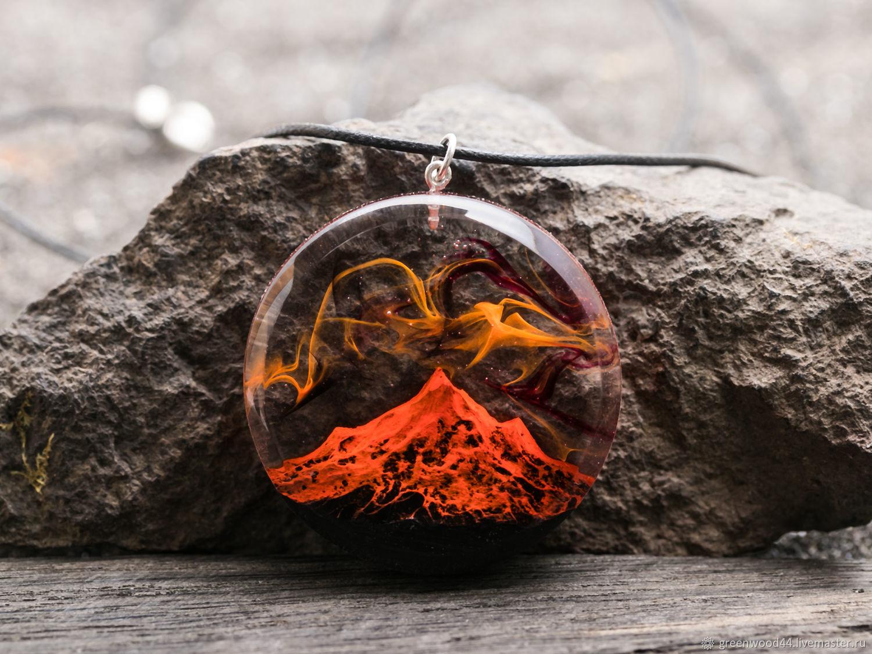 Wooden Volcano Pendant, Pendants, Kostroma,  Фото №1