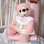 Куклы и игрушки ручной работы. Ярмарка Мастеров - ручная работа Розовая мишка Розочка. Handmade.