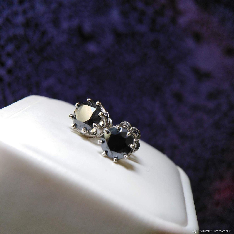 Earrings studs with diamonds, Stud earrings, Tolyatti,  Фото №1