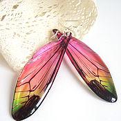 Украшения handmade. Livemaster - original item Transparent Dragonfly Wings Earrings Forest Fairy Stained Glass Epoxy Resin. Handmade.