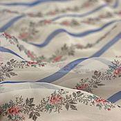 Материалы для творчества handmade. Livemaster - original item Fabric: Silk organza in Provence style. Handmade.
