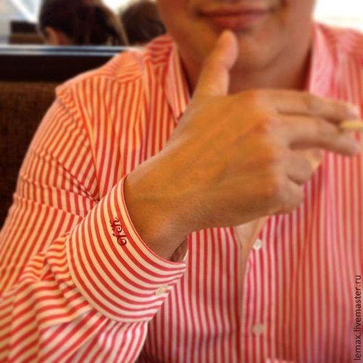 Для мужчин, ручной работы. Ярмарка Мастеров - ручная работа. Купить Рубашка мужская.. Handmade. Коралловый, сорочка, мужской подарок