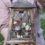 Куклы и игрушки ручной работы. Ярмарка Мастеров - ручная работа Летний домик с гортензиями. Handmade.