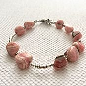 Украшения handmade. Livemaster - original item Bracelet Inca rose. Rhodochrosite, silver handmade, silver plated. Handmade.