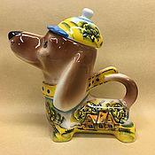 Посуда handmade. Livemaster - original item Dachshund Summer Village Porcelain Teapot. Handmade.